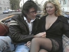 Large titted golden-haired acquires drilled
