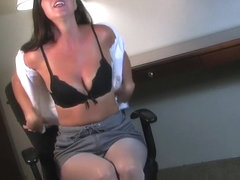 Hottest Homemade record with Brunette, Strip scenes