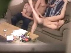 Non-Professional trio on hidden livecam