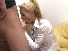 Clothed babe pees in face