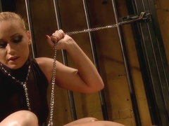 Kathia Nobili horny prison guard torturing a hot babe