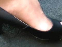 peep toe heels pedal pumping