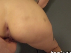 Big ass girlfriend anal fuck in gym