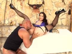 Incredible pornstar Valentina Nappi in hottest lingerie, brazilian porn scene