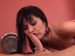 Saucy MILF Eva Karera offers a young worker some extra work