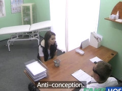 Skinny slim youthful student cums in for check up acquires the doctors creampie