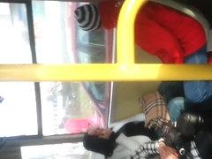 spy sexy mature in bus romanian