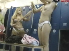 Spy cam sexy bitches in the dresing room on display