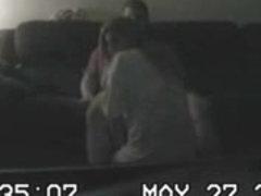 Babysittes Fucking on Spycam