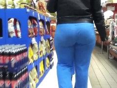 Blue Brown Round Ass Booty(VPL)