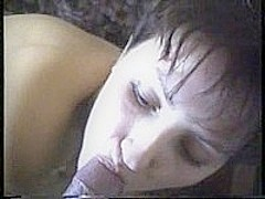 Russian wife swallows cum