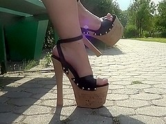 7,5 inch platform high heels
