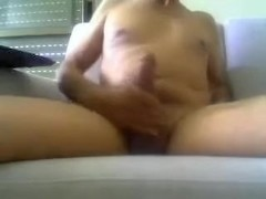 Just my dick with large head and curved up on livecam