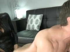 Strapon fucked by two women