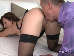 Sexy mature in lingerie fucked and cummed