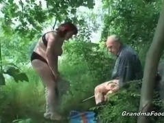 Hot fuck in the woods