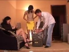 Russian femdom trio