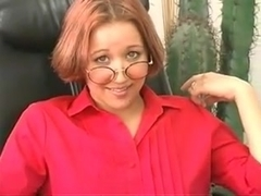 Sexy Secretary with Shaved Pussy 53