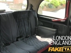 FakeTaxi: Youthful blond takes money for backseat blow job