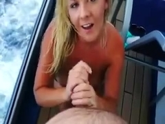 yacht handjob from milf