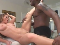 Interracial fucking action with super hot bitch