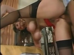 MILF with big juggs is getting her ass boned