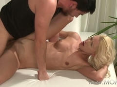 MAMA Golden-Haired mother I'd like to fuck enjoys a worthy fucking