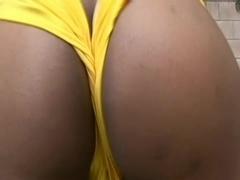 Stacked Black Slut Takes A Messy Facial