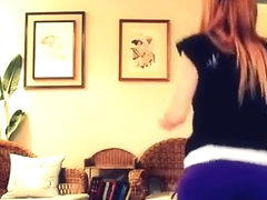 Exotic butt popping cam taut garments movie