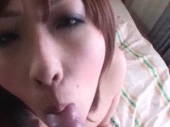 Saki Asaoka screams with cock in her hairy vag