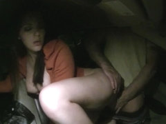 Pervert driver gets to ram this angel in his car