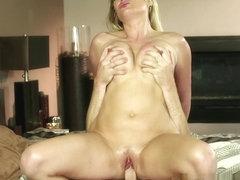 Blonde MILF Jennifer Best Takes A Load