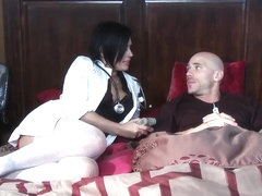 Eva Angelina saves Johnny Sins' from sperm overdose