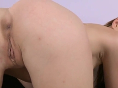 Judy Smile pushes panties into her wet pussy