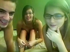 Amateur Girls with Glasses Threesome