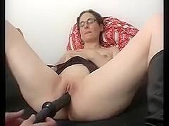 Annette Black Dildo Orgasmic Strokes