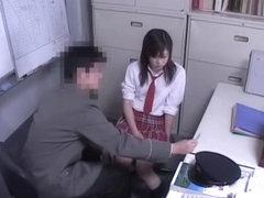 Busty Jap teen gets hardcore Japanese cramming at school