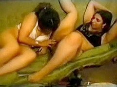 Breasty arabian home lesbo sex