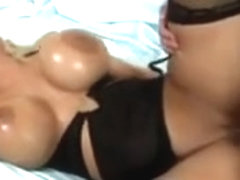 Amy Anderssen Golden-Haired with Large mangos