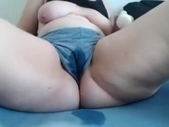 BBW Squirts in Clothing.