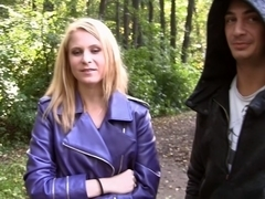 Yani in outdoor sex scene with a chick sucking big schlong