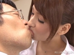 Yui Ooba sexy teacher gets her pink pussy loaded