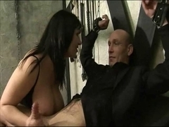Josephine James and Alexis Silver in fetish three-some