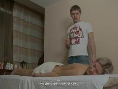 Wild fucking after massage