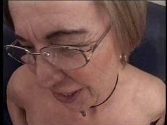 German Aged Vibrator Masturbation and Ejaculation