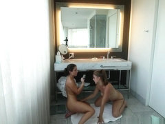 Serena Blair & Presley Hart in I'm Coming In The Shower Video