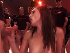 Exotic pornstar in Horny Stockings, Bukkake sex movie