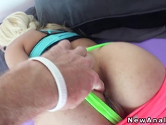 First anal sex for blonde girlfriend