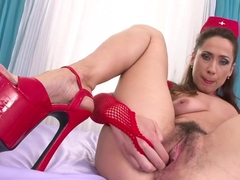 Hottest pornstar in crazy hairy, masturbation xxx scene