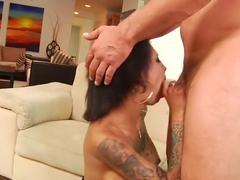 Crazy pornstar Bonnie Rotten in fabulous big tits, tattoos sex scene